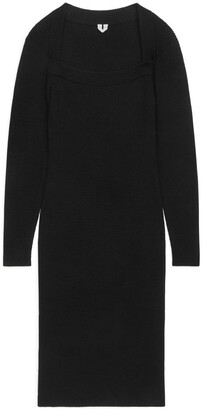 Arket Knitted Square-Neck Dress