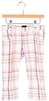 Fendi Girls' Plaid Straight-Leg Pants