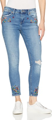 Lucky Brand Women's MID Rise Embroidered AVA Skinny Jean in Macedonia 25