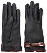 lab srl Black Cashmere-Lined Leather Gloves