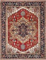 Ecarpetgallery Hand-knotted Serapi Heritage Medallion Corners 8' x 11' Brown 100% Wool area rug