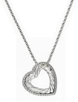 Effy Jewelry Effy 925 Sterling Silver Diamond Heart Pendant, 0.17 TCW