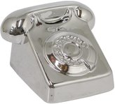 Three Hands Ceramic Telephone Bank - Silver