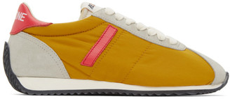 RE/DONE Yellow and Red 70s Runner Sneakers
