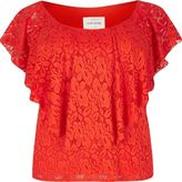 River Island Womens RI Plus red daisy lace bardot top