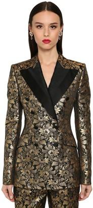 Dolce & Gabbana Double Breast Lame Jacquard Jacket