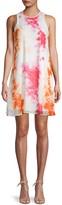 Calvin Klein Print Chiffon Shift Dress
