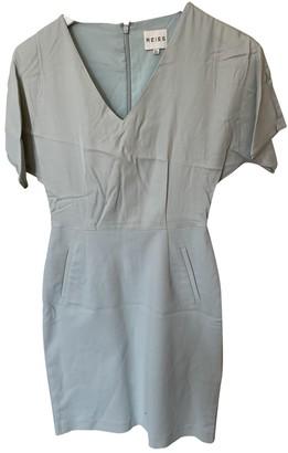 Reiss Green Cotton - elasthane Dress for Women