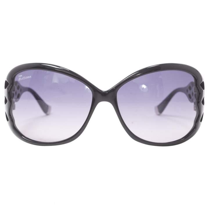 John Galliano Black Plastic Sunglasses