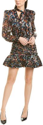 Ronny Kobo Cordelia Silk-Blend Mini Dress