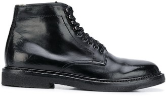Officine Creative Lace-Up Leather Ankle Boots