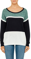 BOSS ORANGE Waylee Tri-Colour Blocked Crew Neck Jumper