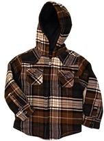 Ben Sherman Kid's Navy Hooded Long Sleeve Shirt Jacket