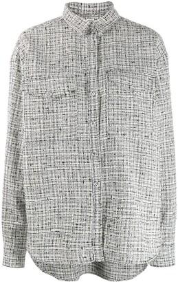 Totême Houndstooth Boxy-Fit Shirt