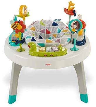 Fisher-Price 2-in-1 Sit-to-Stand Activity Center, Spin 'n Play Safari