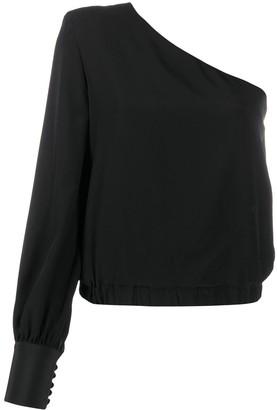 FEDERICA TOSI One-Shoulder Silk Blouse