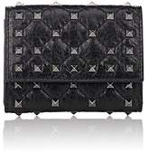 Valentino Women's Rockstud Spike Leather Folding Card Case