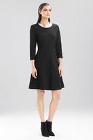 Josie Natori Double Knit Jersey Dress