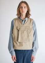 Engineered Garments Men's Cover Vest in Khaki, Size Small   100% Cotton