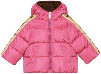 Gucci Baby nylon down jacket with Interlocking G