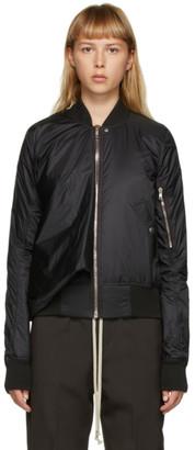 Rick Owens Black Seb Classic Bomber Jacket