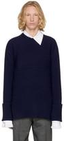 Wooyoungmi Navy Crewneck Sweater