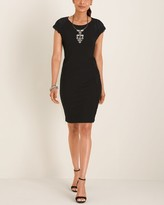 Chico's Chicos Lace-Accent Dress