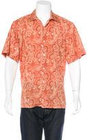 Brioni Paisley Print Woven Shirt