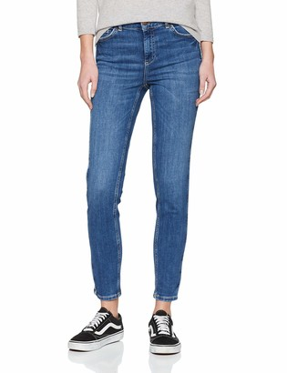 Pieces Women's Pcdelly DLX Skinny Mw Crop Piping Mb207 Jeans