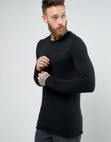 Selected Homme Melange Ribbed Knitted Jumper