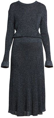 Chloé Lurex Ribbed Midi Dress