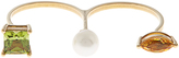 Delfina Delettrez Peridot, citrone, pearl & yellow-gold ring
