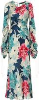 Etro Floral silk jacquard maxi dress