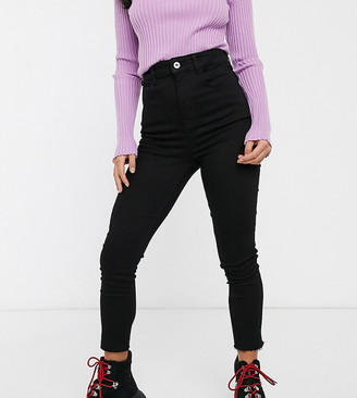 Collusion petite highwaisted skinny in black