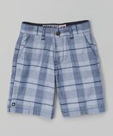 Micros Navy Plaid Shorts - Toddler & Boys