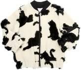 Caroline Bosmans Cats Intarsia Knit Bomber Jacket
