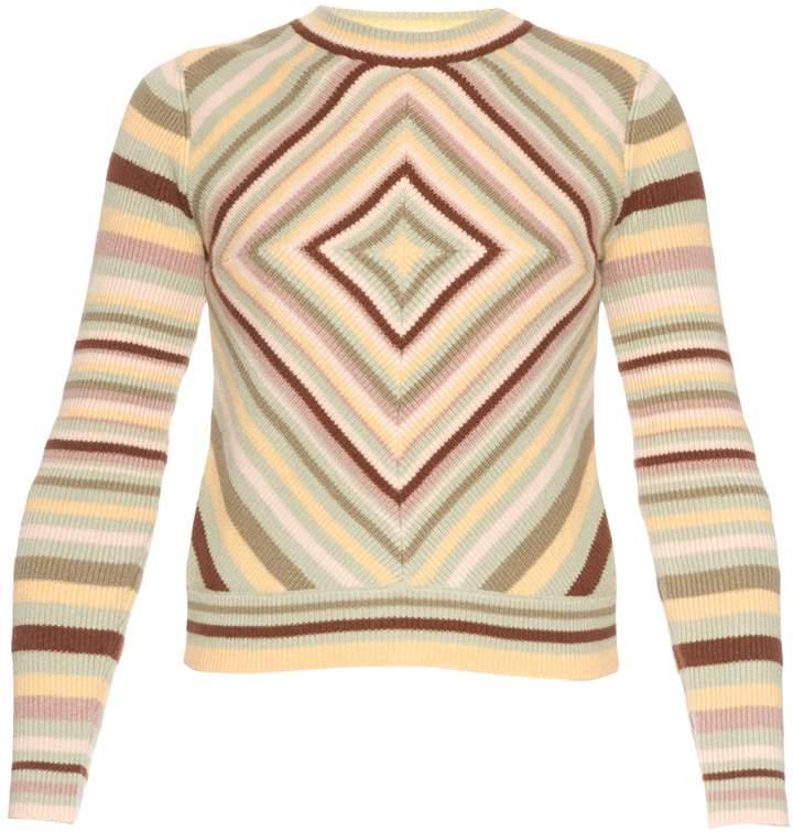 Valentino Native Couture 1975-print crew-neck sweater