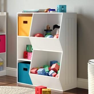 RiverRidge Home RiverRidge Kids 3-Cubby, 2-Veggie Bin Floor Cabinet - White
