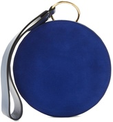 Diane von Furstenberg Circle leather and suede clutch