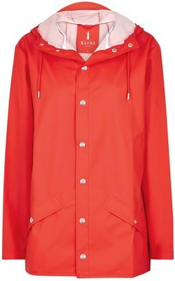 Rains Red Rubberised Raincoat