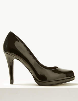 M&S CollectionMarks and Spencer Wide Fit Patent Stiletto Heel Court Shoes