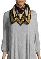 Versace Foulard Printed Silk Scarf