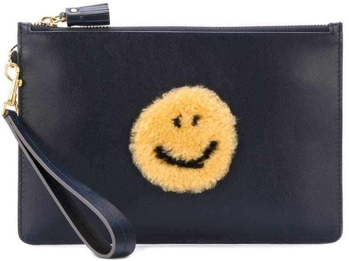Anya Hindmarch smile clutch bag