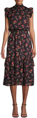 Saks Fifth Avenue Printed Midi Dress