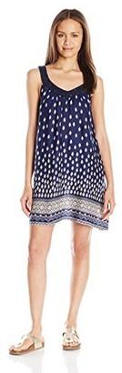 En Creme Women's Printed Sleeveless A-Line Dress