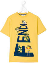 Fendi cartoon print T-shirt