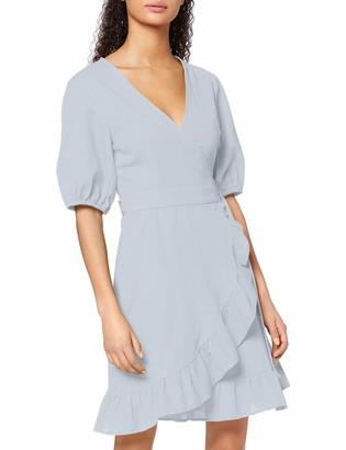 Find. Amazon Brand Women's Mini Cotton Wrap Dress