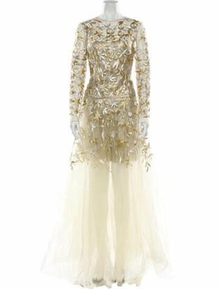 Oscar de la Renta 2019 Long Dress w/ Tags Gold