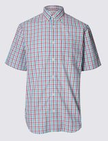 Marks and Spencer Pure Cotton Gingham Shirt with Pocket