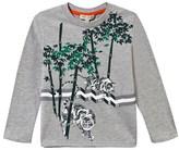 Kenzo Grey Marl Tiger in the Jungle Print Tee